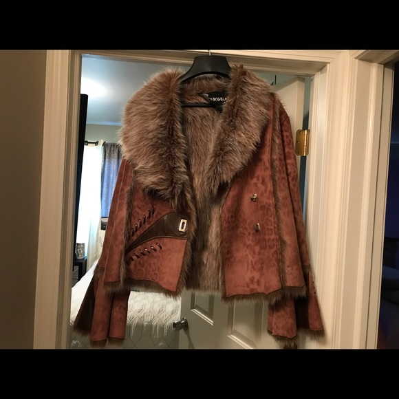 Outerwear by Lisa Jackets & Blazers - Winter coat brown